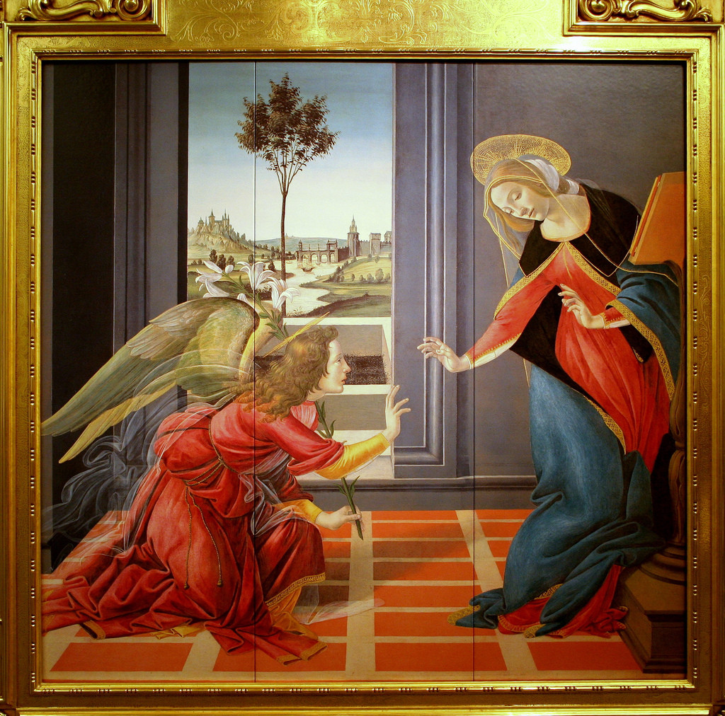 Boticelli The Annunciation Full
