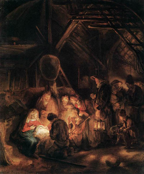 Rembrandt Adoration of Shepherds