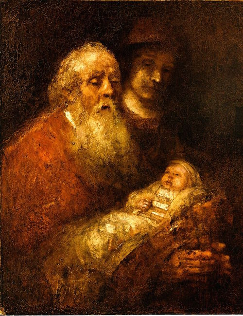 Rembrandt Simeon and Jesus Full