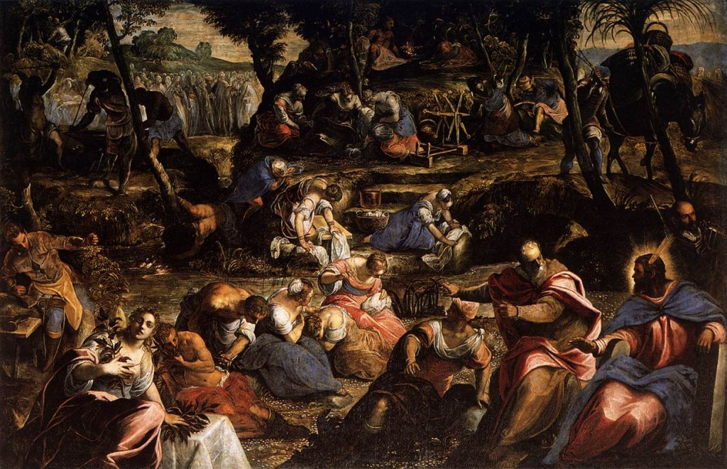 Tintoretto Jews in the Desert Full Day 10