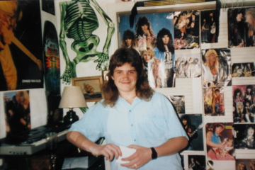 1989, Russ Ramsey in His awesome room